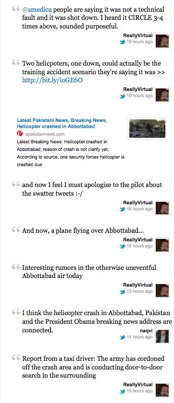 Athar Live Tweets Osama's Death